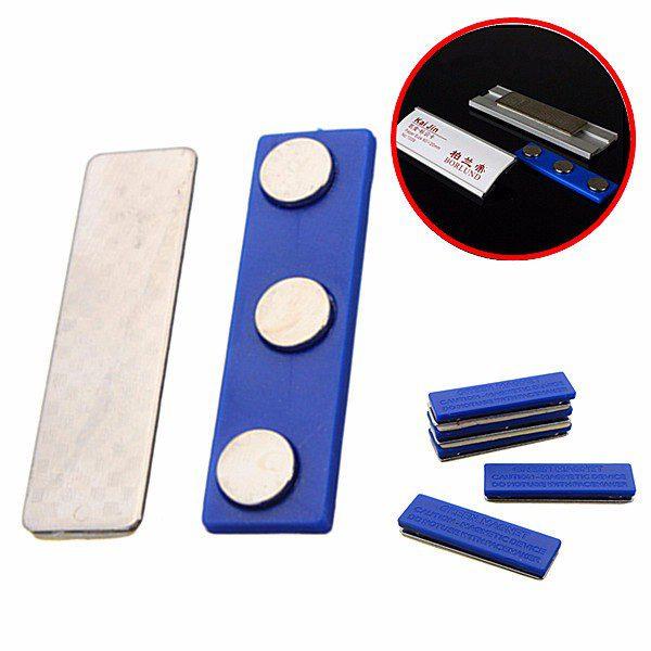 Magnetic Name Tag Badge Fastener ID Holder Magnet Strong