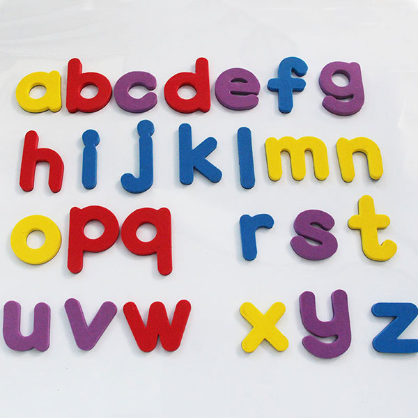 A z letters eva fridge magnets baby educational set for Magnetic letters for babies