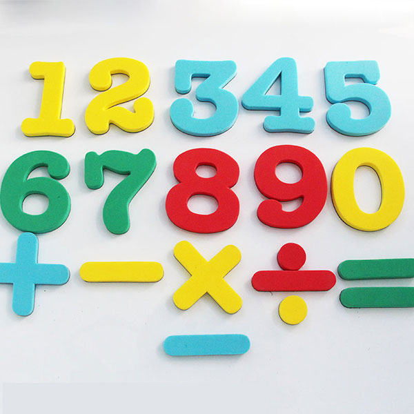 Numbers eva fridge magnets baby educational set magnetic for Magnetic letters for babies