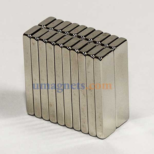20mm x 5mm x 2mm thick N35 Neodymium Block Magnets Super Strong Magnets