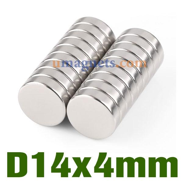 N35 14mmx4mm Neodymium (NdFeB) Rare Earth Disc Magnets