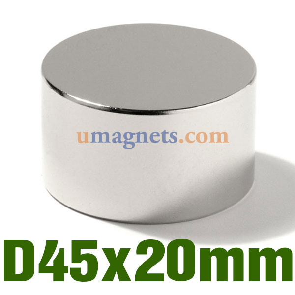 N52 45mmx20mm Neodymium (NdFeB) Rare Earth Disc Magnets UK