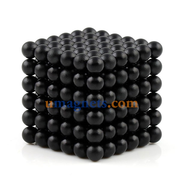 N42 5mm Buckyballs Magnetic Balls Toys Magnet Balls Puzzles Sphere Neodymium Magnets (Color: Black)