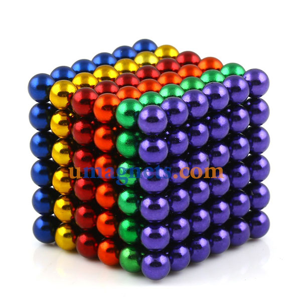 N42 5mm Buckyballs Magnetic Balls Toys Magnet Balls Puzzles Sphere Neodymium Magnets (Color: Mixed)