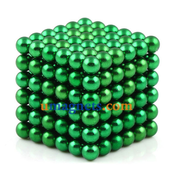 N42 216pcs Magnetic Buckyballs 5mm dia Sphere Neodymium Magnets Nickel(Ni-Cu-Ni) - color: Green