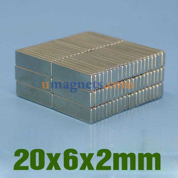 N35 20mm x 20mm x 10mm Strong Neodymium block magnets MRO DIY science  var PACKS